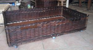 tiroir en osier brut marron casier de rangement paniére osier sur mesure fabrication traditionelle