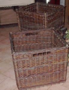 tiroir osier brut marron vert  sur mesure Etienne Métézeau 37190 Villaines les rochers