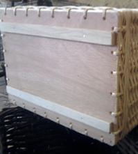 tiroir sur mesure en osier fond bois avec tasseaux